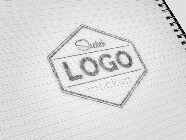 Sketch Logo MockUp PSD - Free Designs