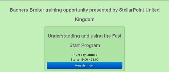 #Banners Broker training #opportunity presented by StellarPoint United Kingdom