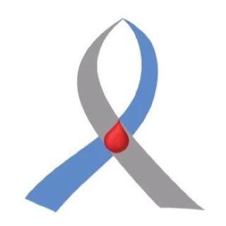 Type 1 diabetes awareness ribbon