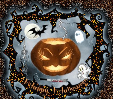 happy halloween animated happy animated gif pumpkin halloween greeting - Happy Halloween Birthday