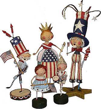 Lori Mitchell July 4th figurines
