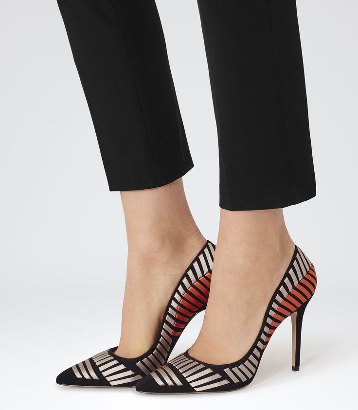 Womens Black Ribbon Court Shoes - Reiss Alex