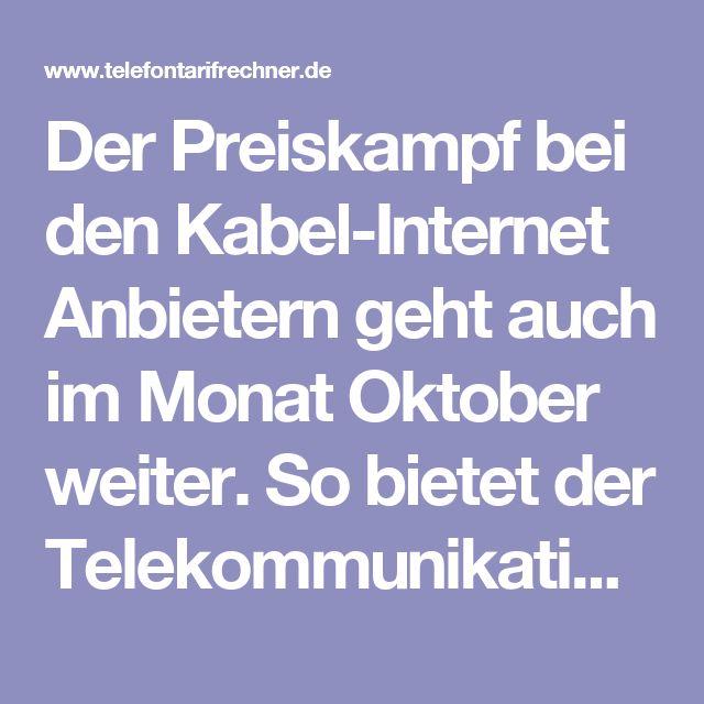 Der Preiskampf bei den Kabel-Internet Anbietern geht auch im Monat Oktober weiter. So bietet der Telekommunikationsanbieter Unitymedia wieder verbilligte Telefon- und Internet-Anschlüsse an. So kann man zum Beispiel den Doppel-Flatrate Tarif 2play Comfort 120 schon für 24,99 Euro bekommen. Hier surft man immerhin bei dem Telefonanschluss mit einer maximalen Datenrate von bis zu 120 Mbit/s neben der Telefon-Flatrate.