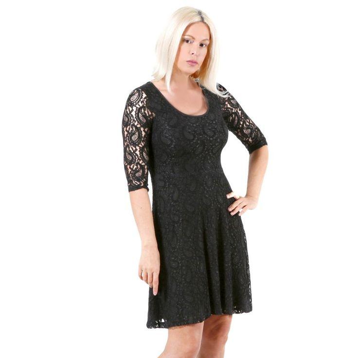BRAVO Ελαστικό δαντελωτό φόρεμα, γραμμή άλφα