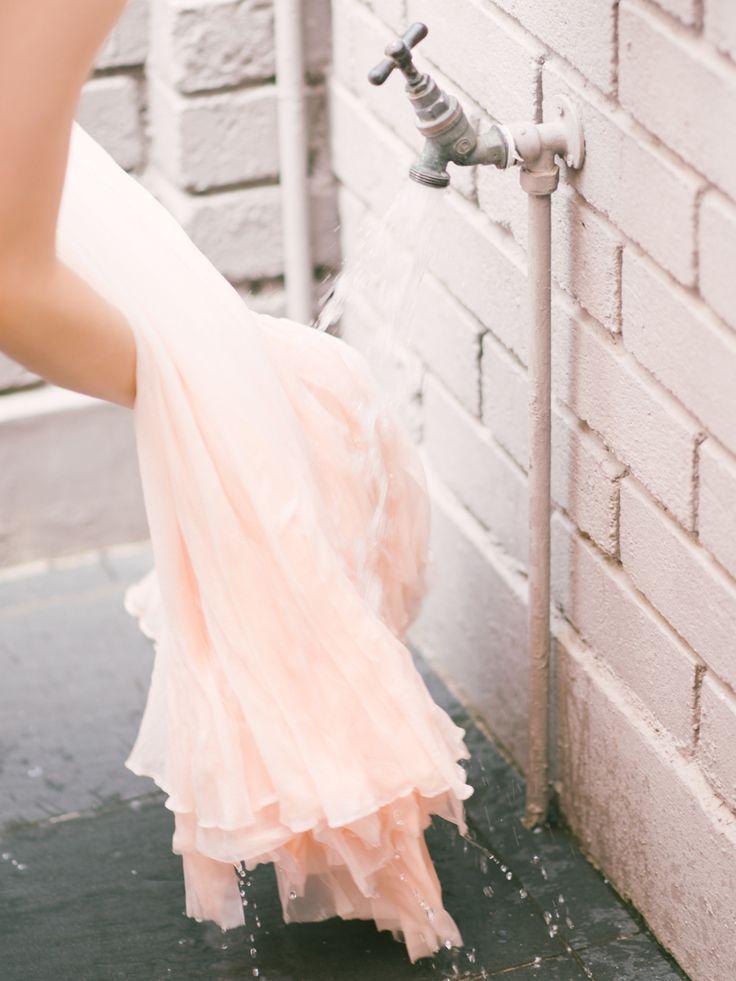 DIY Dip-Dye Ombre Wedding Dress