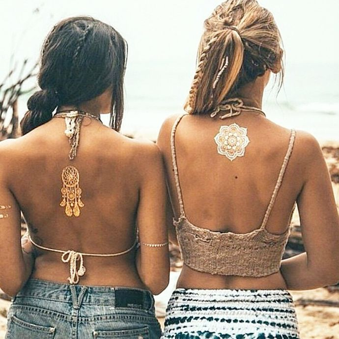 tatouage-ephemere-dore