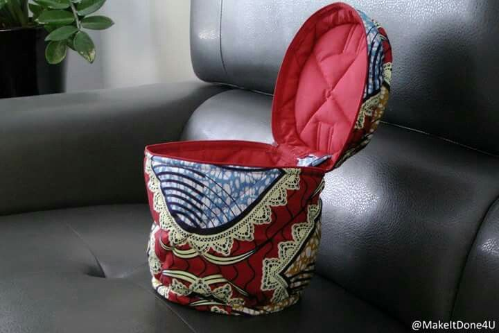 Ankara, waxprint vanity bag
