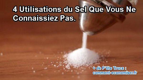 Utilisations du sel comme produit nettoyage
