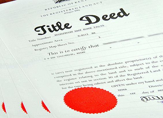 title deed