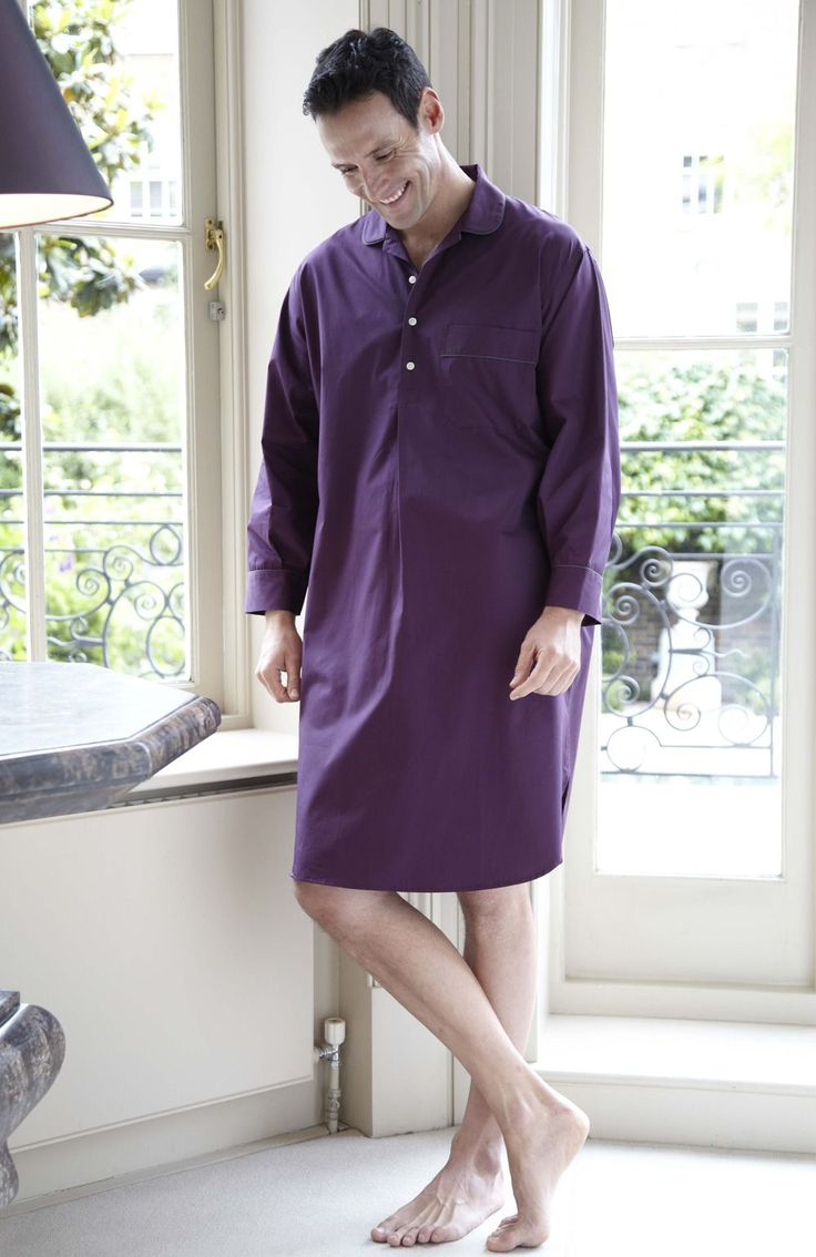 Essential Men's Nightshirt Part of our Essentials range of classic nightwear; Made from cool cotton poplin, this mid-length nightshirt has contrast piping at the collar, cuffs and chest pocket.100% CottonMachine WashableLength: 115cm