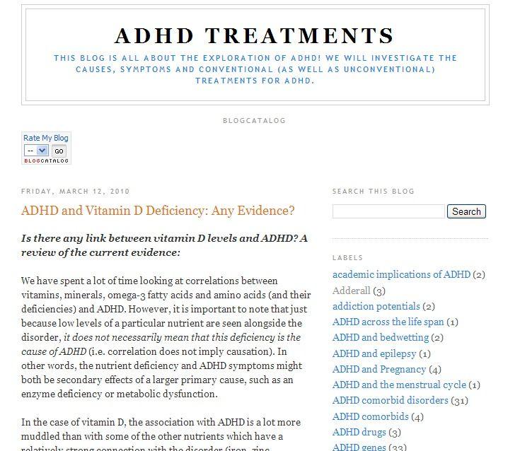 d vitamin adhd