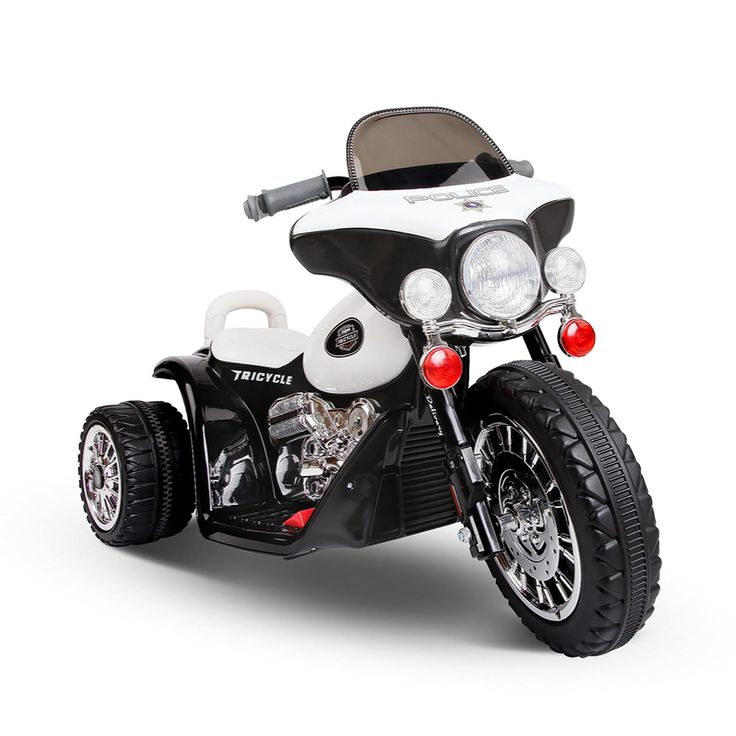 Kids Ride On Motorbike Black & White
