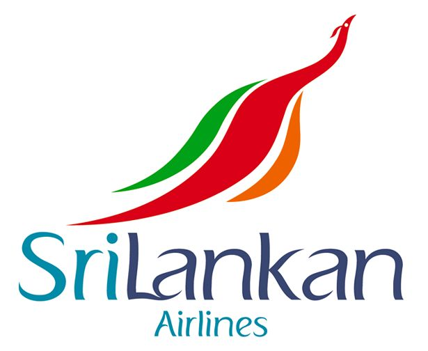 The stylized peacock of Srilankan Airlines