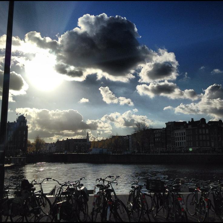 Tegenlicht in Amsterdam in november