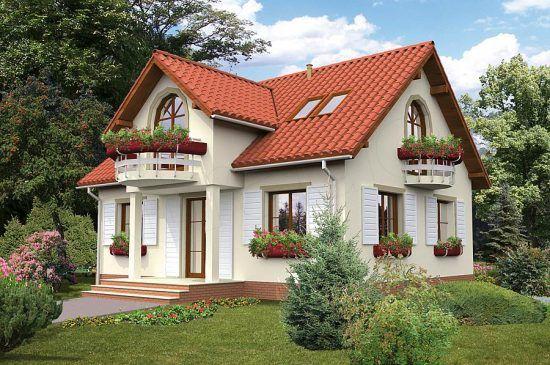 Proiect de casa cu 3 dormitoare si mansarda cu suprafata de 107.8 mp   CasaPost.ro