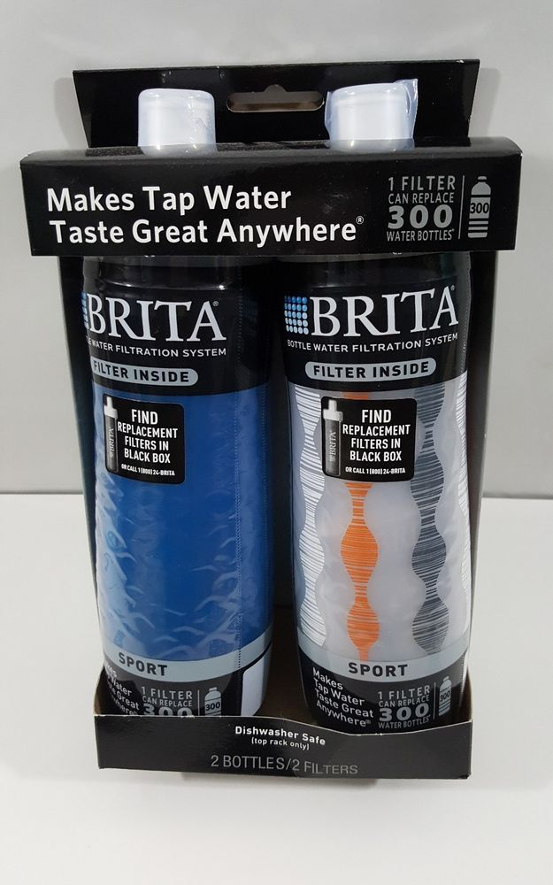 2-Brita Squeeze Bottle Water Filtration System SPORT/BPA Free/Dishwasher safe | Home & Garden, Kitchen, Dining & Bar, Drink Containers & Thermoses | eBay!