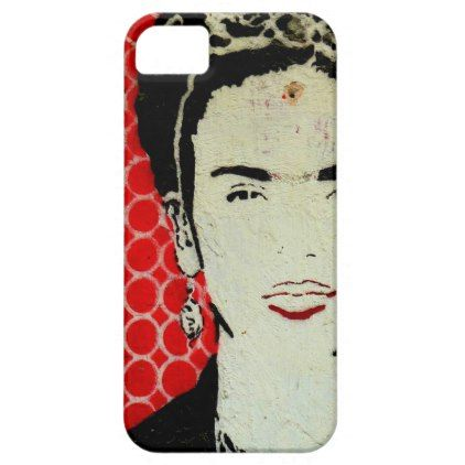 Frida mobile case. iPhone SE/5/5s case - red gifts color style cyo diy personalize unique