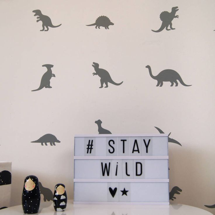 dinosaur wall stickers by parkins interiors | notonthehighstreet.com