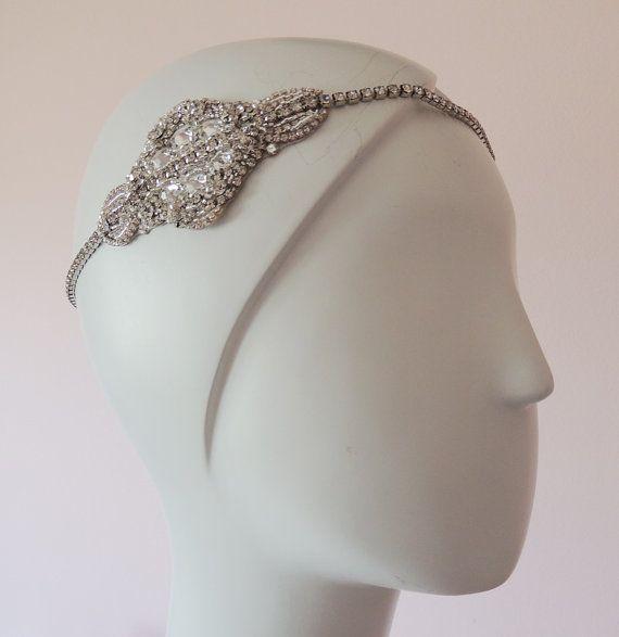 Wedding Headpiece Goddess Headpiece Chain by Tatishotties on Etsy