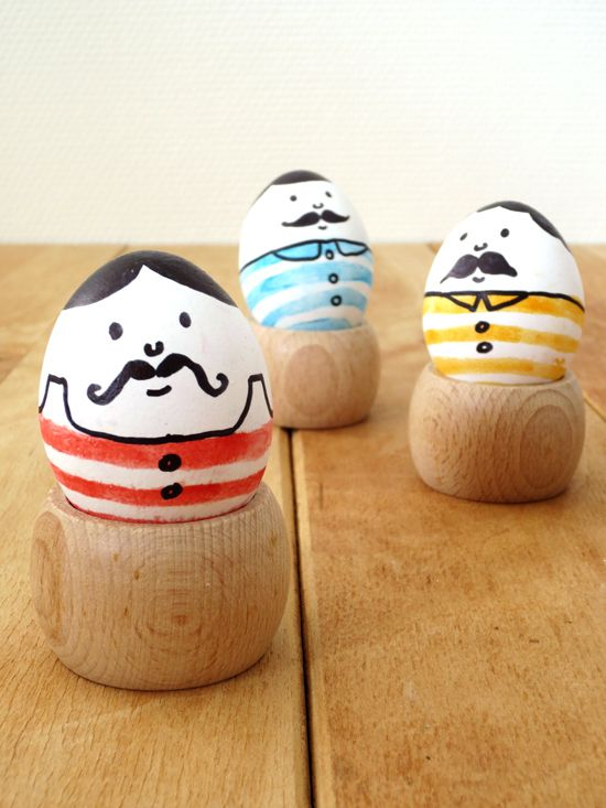 DIY - Mustach men eggs for Easter