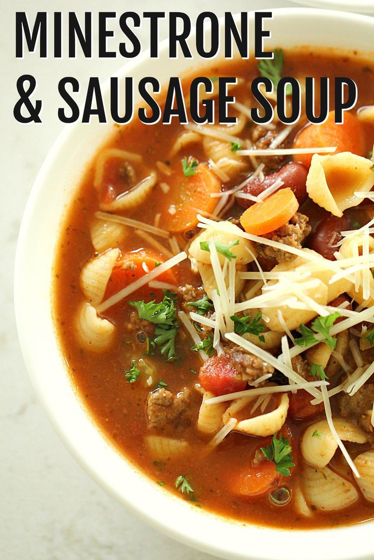 Minestrone and Sausage Soup