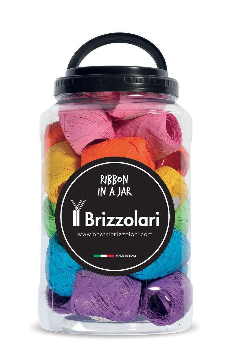Ribbon in a Jar #nastribrizzolari #ribbon #ribboninajar #color #rafia