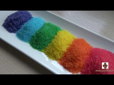 Делаем цветной сахар для украшения пряников, печенья и другой выпечки - YouTube