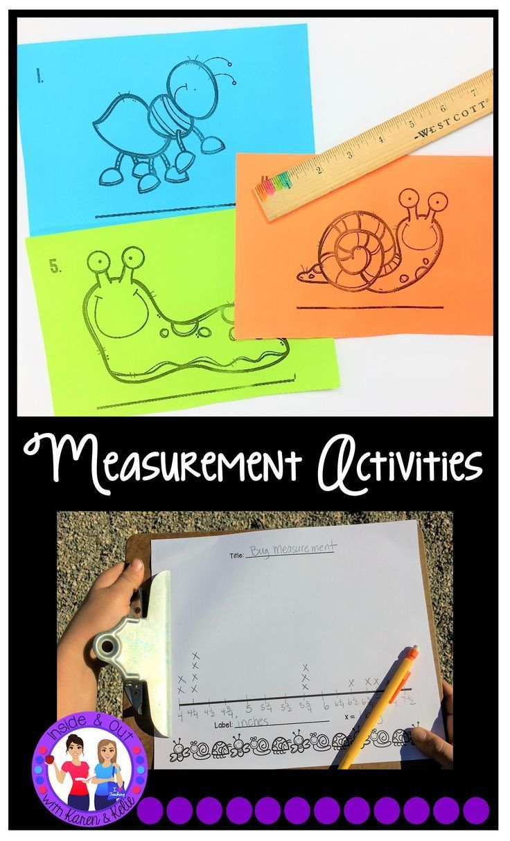 Hands on ideas for teaching measurement to the nearest quarter inch and line plots.  Perfect for the third grade teacher.