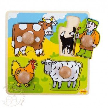 BigJigs My First Peg Puzzle - Farm  www.naturalbabyshower.co.uk/bigjigs-my-first-peg-puzzle-farm.html