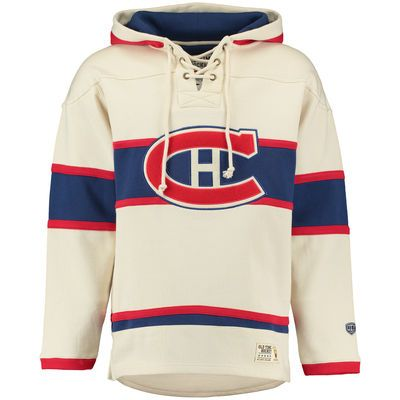 Men's Montreal Canadiens Old Time Hockey Tan Lacer Heavyweight Pullover Hoodie