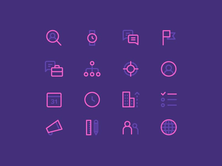 Dribbble - Marketing Icons by Dmitri Litvinov