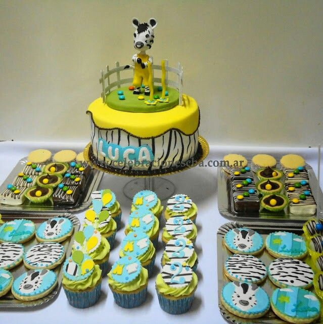 Cake and cupcakes and cookies