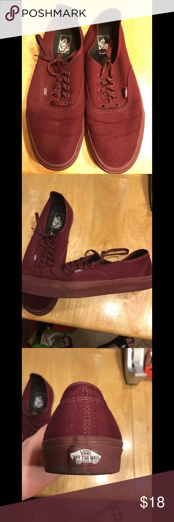 Maroon Vans Shoes Used! In good condition! Vans! Maroon! Shoes