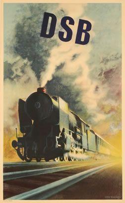DSB #vintage #dansk #poster - Loved by @denmarkhouse