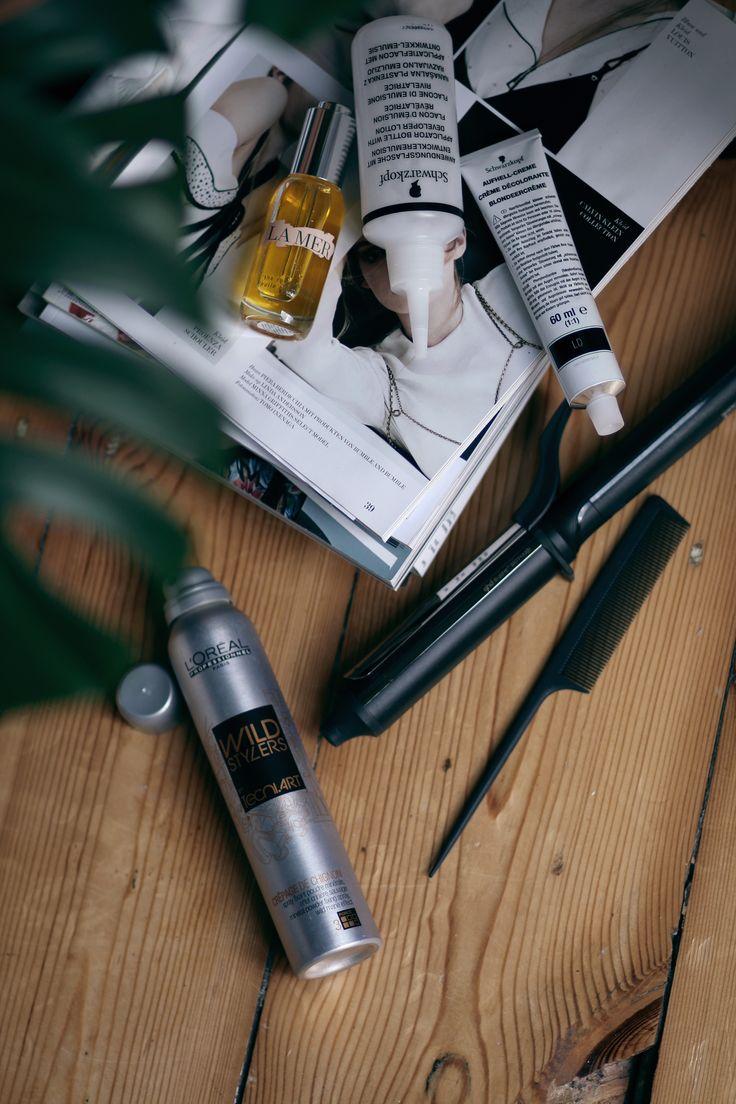 Meine Haarpflegeroutine und Styling: Divines shampoo, Aveda conditioner, La Mer Renewal Oil, ghd Curve Soft Curl Tong - teetharejade.com