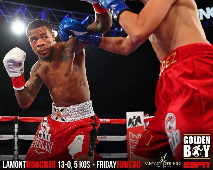 "Undefeated super featherweight Lamont Roach, Jr. (13-0, 5 KOs) returns to national TV on Friday, June 30 on ""Golden Boy Boxing on ESPN"" live from Fantasy Springs Casino in Indio, California ____________  @4mikeywilliams #LamontRoachJr #Boxing #Boxeo #BoxingNews #NoXcuseBoxing #GoldenBoyPromotions #RoundByRoundBoxing #RBRBoxing #IGDC #IGMD #DMV #BoxingFanatik #BoxingHype #Boxen #FantasySprings #ESPNBoxing #KeystoneBoxing #GBPonESPN"