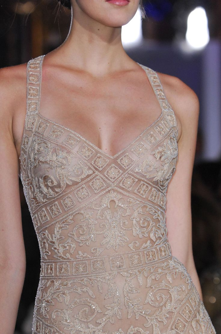 Zuhair Murad Spring 2013// Naked. Even though is almost transparent, it is still a piece of art, such delicate details.