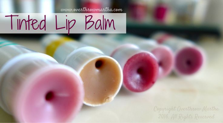 #DIY tinted lip balm in all the colors: #pink #red #brown