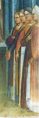 Giusto de'Menabuoi, Battistero di Padova, 1376: nascita di S. Giovanni Battista