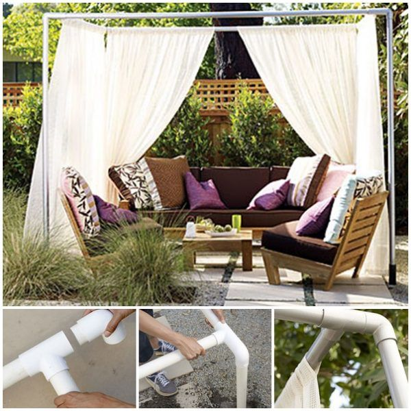 Build a Homemade Pvc Pipe Backyard Cabana Project Homesteading  - The Homestead Survival .Com