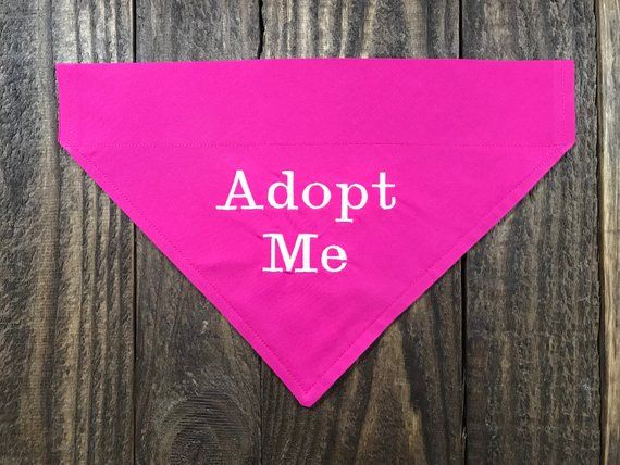 Adopt Me Dog Bandana Slide Over The Collar Adopt Me Pet Bandana Dog Bandana Pet Bandana Adoption
