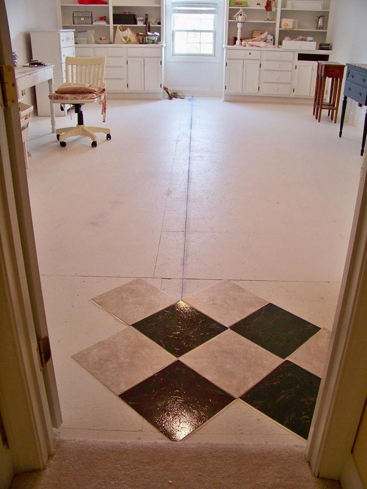 vinyl tile checker board black marble instead of white floors pinterest vinyls. Black Bedroom Furniture Sets. Home Design Ideas