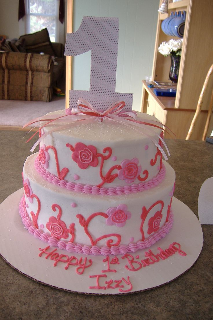 In law in addition free pink birthday cake in addition bake shop party - 1st Birthday Cakes For Girls