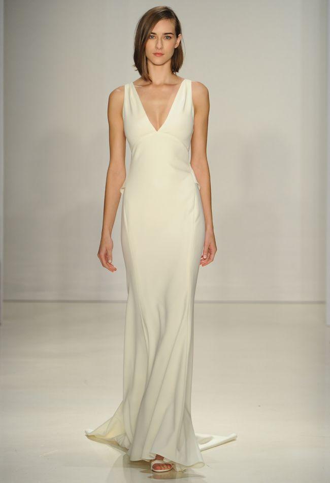 Best 25 sheath wedding dresses ideas on pinterest lace wedding amsale wedding dresses are big on texture for fall 2015 junglespirit Choice Image