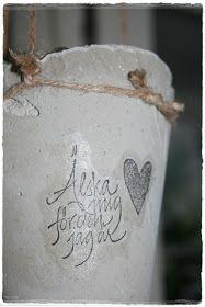 betong ute och inne: ...snart alla hjärtans dag...