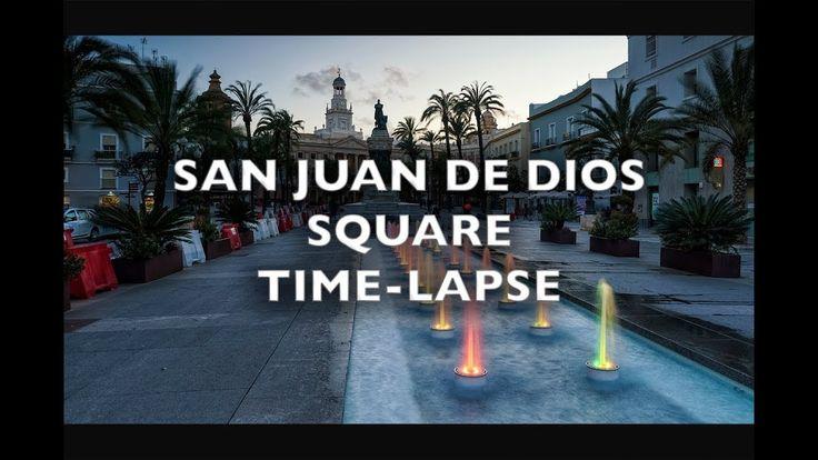 San Juan de Dios Plaza Cadiz Spain Time Lapse 4K Royalty Free Footage