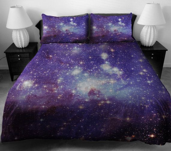 Purple galaxy quilt cover galaxy duvet cover galaxy sheets space sheets  outer space bedding set bedspread with two matching pillow covers by  CBedroom on. 22 best Maggie s space bedroom images on Pinterest   Kids rooms