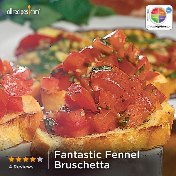 Fantastic Fennel Bruschetta from Allrecipes.com #myplate #veggies