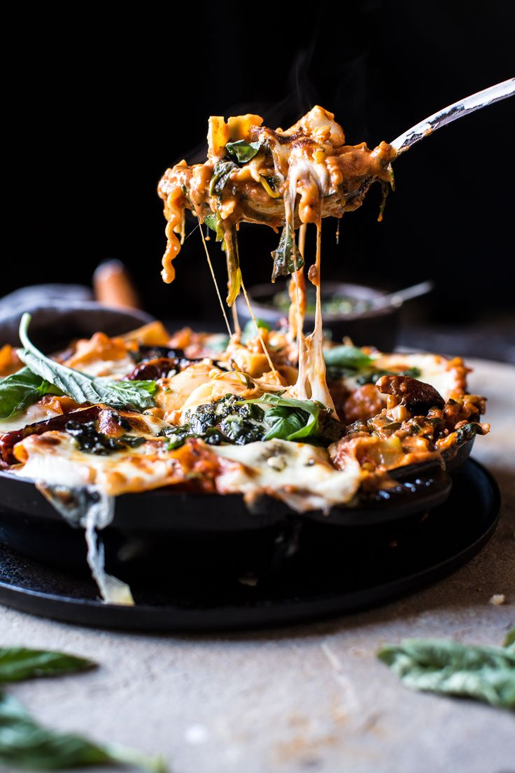 Simple Vegetarian Skillet Lasagna