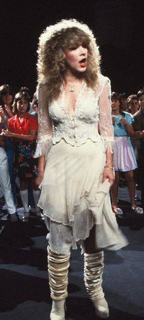 Stevie Nicks...the If Anyone Falls GREAT outfit!